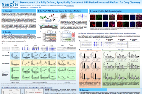 2020 Neucyte poster iPSC-neurons for drug discovery with multielectrode array system