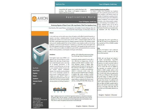 Axion Bio App Note Cell Migration