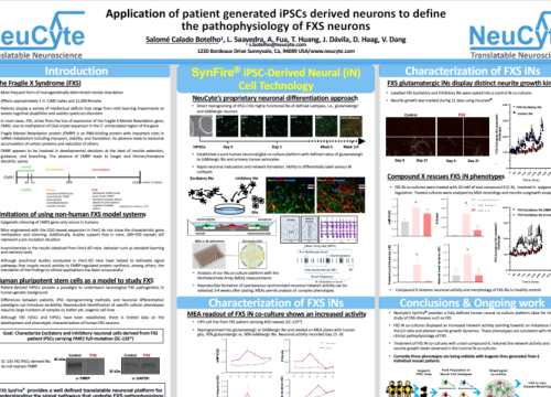 2020 Neucyte poster ipsc-derived neurons pathophysiology on MEA system